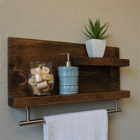Modern Rustic Bathroom Accessories by Modern Rustic 2 Tier Bathroom Shelf With 18 Quot Satin Nickel