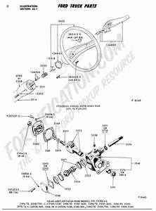 1968 Ford Truck Steering Column Wiring Diagram  Ford  Auto Parts Catalog And Diagram