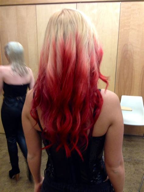 Blond With Red Tips Hair Pinterest