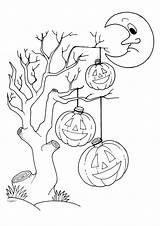 Colorare Disegni Stampare Bambini Gratis Halloween Disegno Immagini Case Disegnare Ritagliare Stampa Coloring Disney Alberi Maschere Bing Albero Mostro Casa sketch template