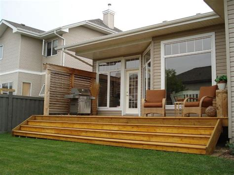 Exterior Deck And Privacy Wall In