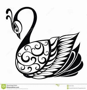 Swan bird silhouette stock vector. Illustration of tattoo ...
