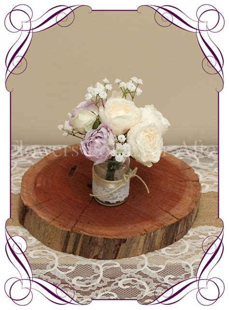 lilac mauve cream peony short table posy gorgeous