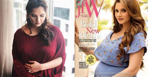 mom   sania mirza flaunts  baby bump   cover