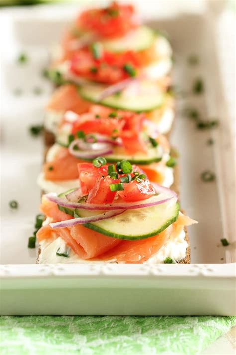 canapes filling recipe smoked salmon canapes with chive cheese
