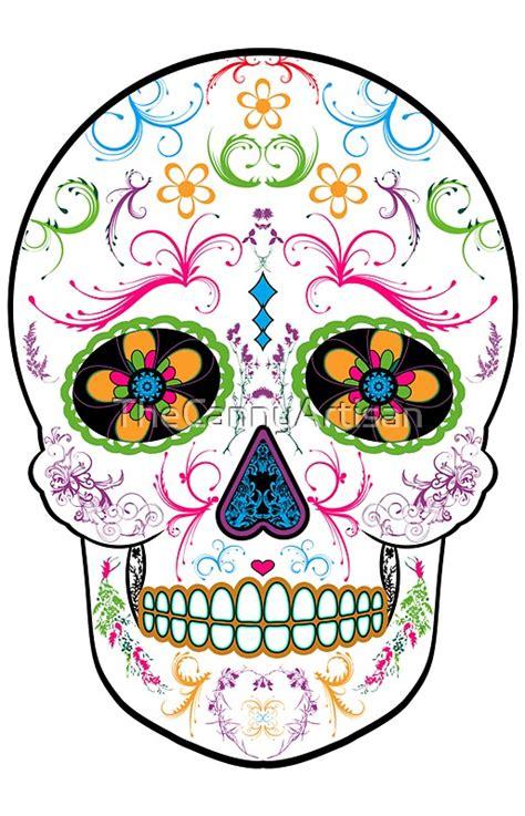 day   dead sugar skull bright multi color