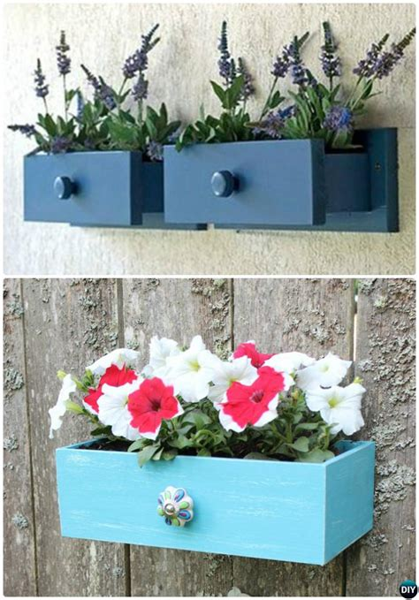 recycle  drawers garden planter diy ideas projects