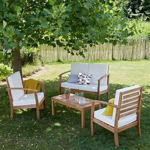 Salon De Jardin Acacia : salon bas de jardin en bois d 39 acacia bois dessus bois dessous ~ Teatrodelosmanantiales.com Idées de Décoration