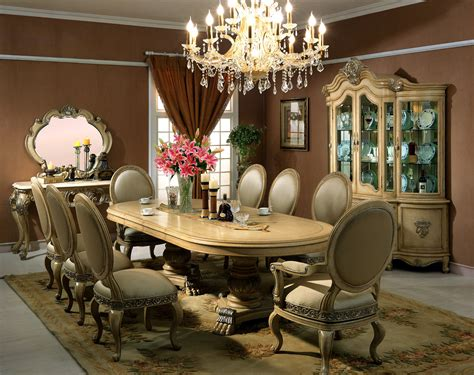 chardonnay formal dining room collection  antique
