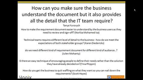 How To Write An Effective Business Requirements Document (september 2013) Youtube