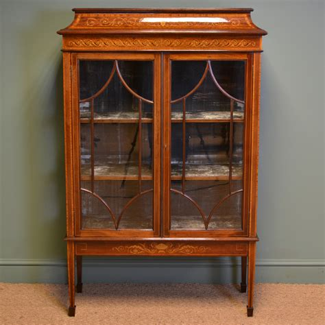 vintage display cabinets spectacular exhibition quality maple co inlaid mahogany 3189