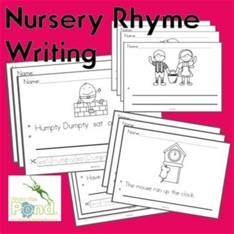 nursery rhymes writing worksheets differentiated