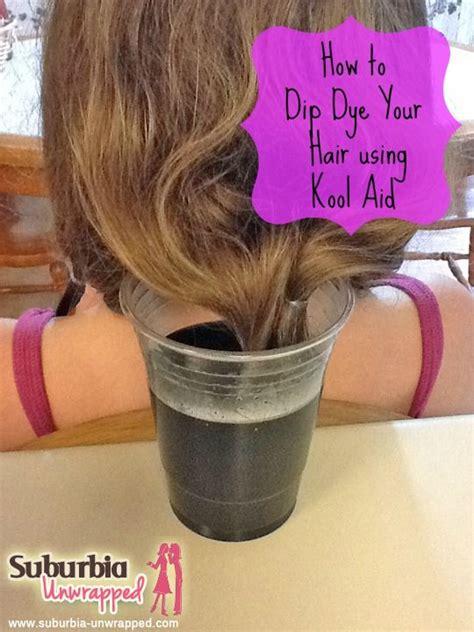 How To Dip Dye Your Hair Using Kool Aid Suburbia