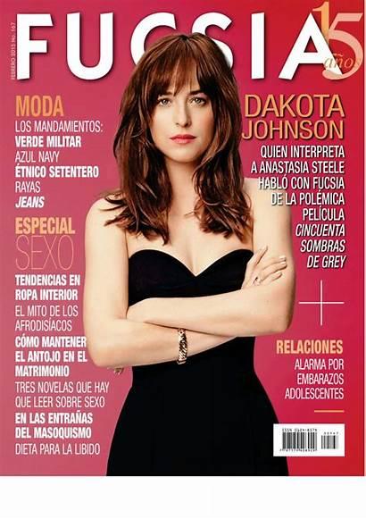 Dakota Johnson Magazine February Issue Fucsia Celebmafia