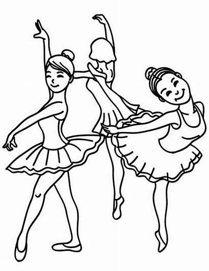 Coloring Ballet Dance Pages Class Dancing Ballerina