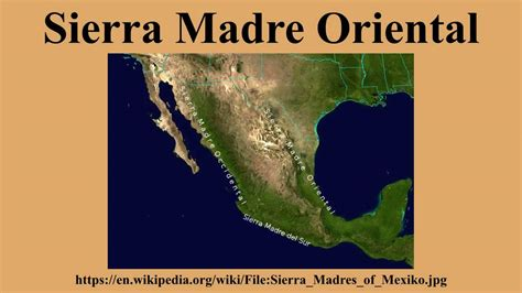 Sierra Madre Mountain Range Map