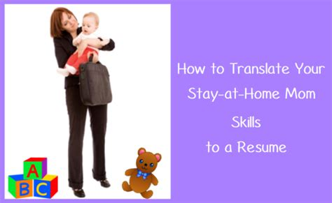 how to translate your stay at home skills to a resume