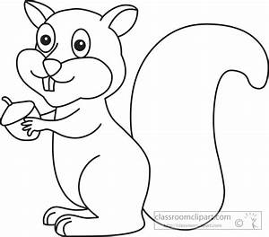 Animals Clipart- squirrel_1029_outline - Classroom Clipart