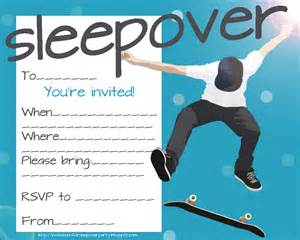 Boys' Slumber Party Invitation