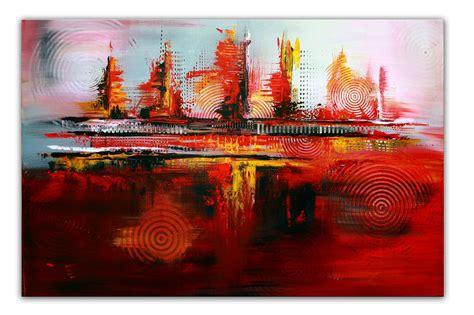 bilder mit rot rote kreise k 252 nstler bild kaufen gem 228 lde abstrakt burgstaller