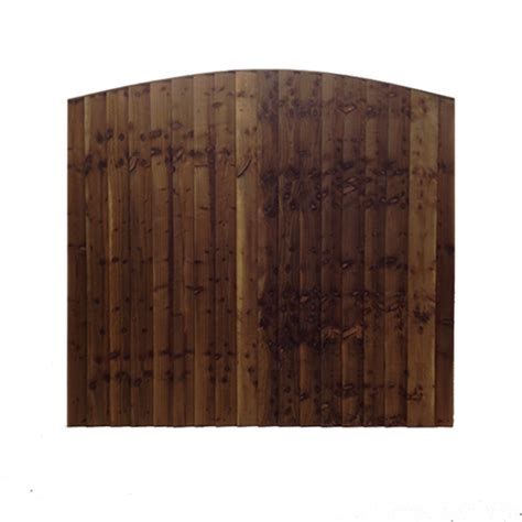 arched feather edge tanalised fence panel reynolds timber