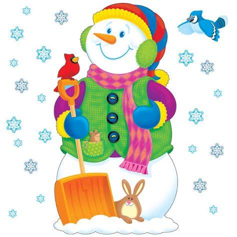 super snowman bulletin board set t 8127