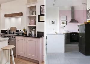 Deco Mur Cuisine : 12 cuisines qui voient la vie en rose joli place ~ Teatrodelosmanantiales.com Idées de Décoration