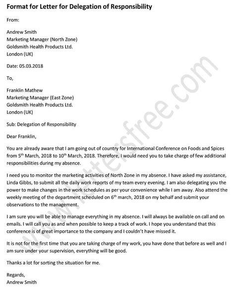 write  effective delegation letter delegation