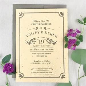 vintage plantable wedding invitation vintage catalog With wedding invitations you can plant