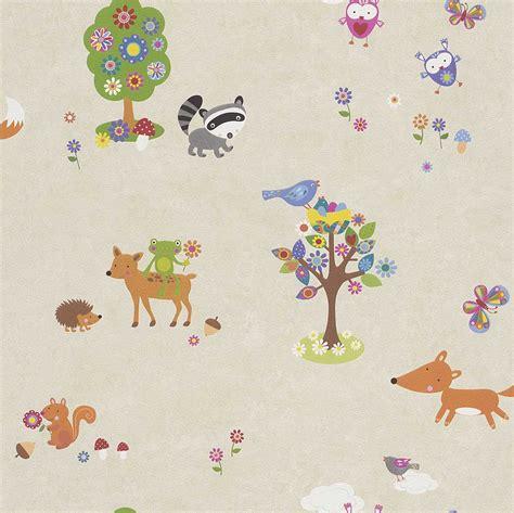 woodland animals wallpaper borders bedroom nursery