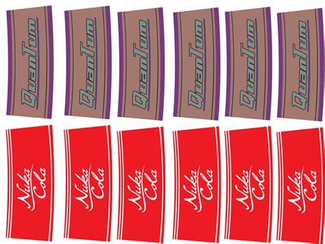 Nuka Cola Quantum Label Printout by Nuka Cola And Quantum Labels By Falloutfood By Falloutfood