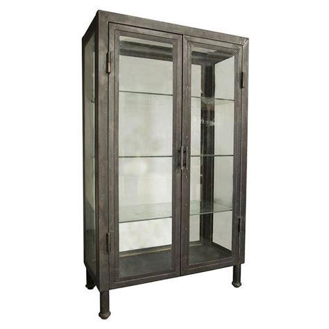 industrial style display cabinet noir metal bar cabinet i zinc door