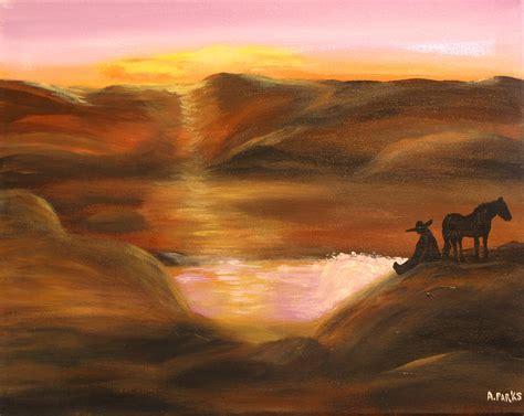 southwestern pictures southwestern desert sunset by aleta parks