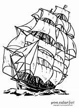 Ship Clipper Coloring Colouring Printables sketch template