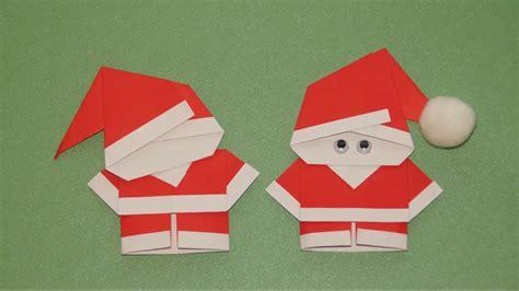 Falten Weihnachten by Basteln Zu Weihnachten Weihnachtsmann Falten Origami
