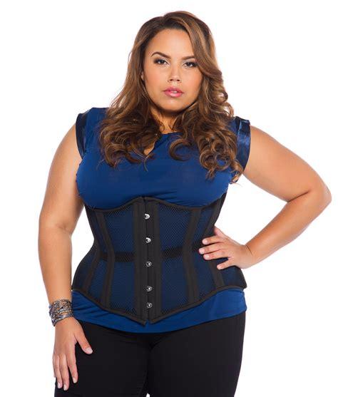 corset si鑒e black mesh plus size corset steel boned glamorous corset