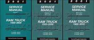 New 2001 Dodge Ram Truck Service Manual Gas Diesel 1500