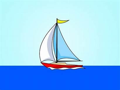 Sailboat Drawing Draw Boat Sail Clipart Yacht