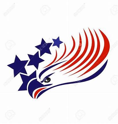 Eagle Flag American Bald Vector Clipart Patriotic