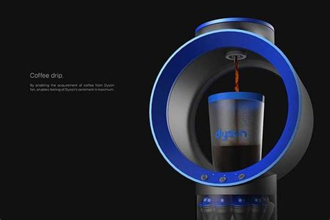 concept cyclone belt coffee machine inspired  dyson