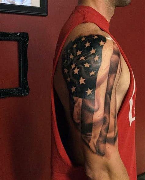 foto de Top 60 Best American Flag Tattoos For Men USA Designs