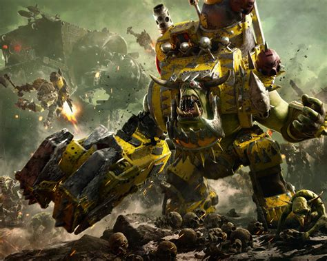 wallpaper warhammer  dawn  war iii ork faction
