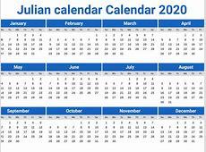 Julian calendar Calendar 2020 printcalendarxyz