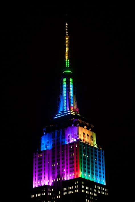 empire state color empire state building new york u s a must see places