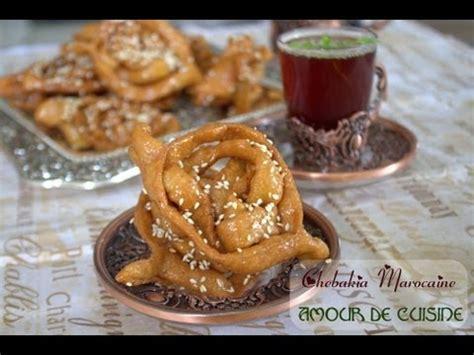 cuisine samira comment faire la chebakia marocaine patisserie et gateau
