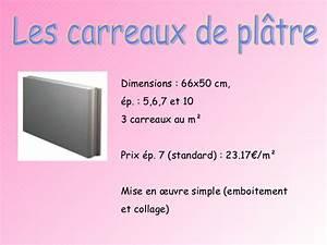 Dimension Carreau De Platre : expos cloisons ~ Dailycaller-alerts.com Idées de Décoration