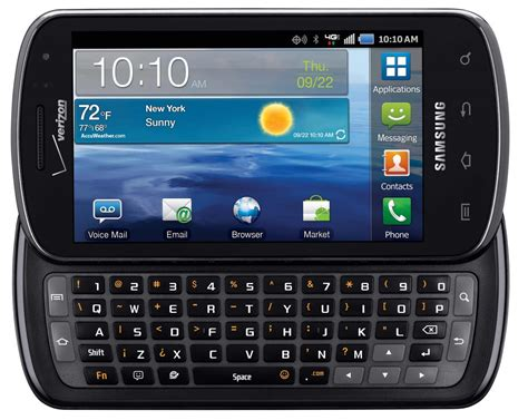 smartphone with slide out keyboard verizon announces the samsung stratosphere available oct