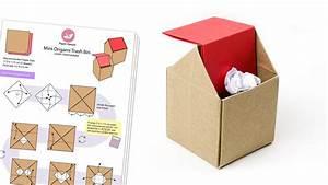Mini Origami Trash Bin Diagram