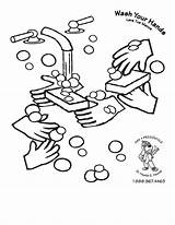 Coloring Washing Colouring Hands Pages Hand Germs Printable Bacteria Germ Hygiene Wash Cleanliness Steps Handwashing Worksheet Preschool Clipart Drawing Worksheets sketch template