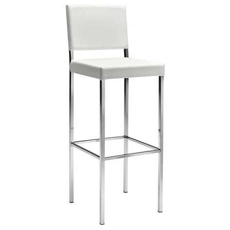 chaise de bar blanche chaise haute de bar blanc ligne design mobiliers